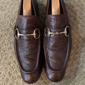 GUCCI Horsebit GG Guccissima Loafers